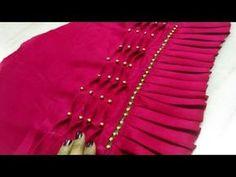 Very easy Beautiful sleeves design on plain fabric making Kurti Sleeves Design, Kurta Neck Design, Sleeves Designs For Dresses, Sleeve Designs, Dress Designs, Designer Blouse Patterns, Dress Sewing Patterns, Smocking Patterns, Stitching Patterns