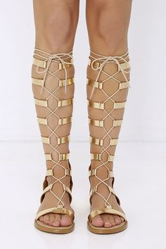 a47178a125c9 Chinese Laundry Galactic Gold Tall Gladiator Sandals. Gladiator Sandals  HeelsGold SandalsFlat ...