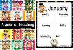 Classroom Freebies: Happy January!