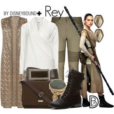 Rey by leslieakay on Polyvore featuring WearAll, City Chic, Vera Bradley, Topshop, Kendra Scott, Prada, disney, disneybound, starwars and plussize