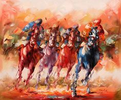 Horse racing to the finish line