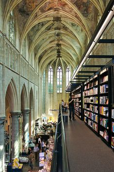 Selexyz Dominicanen Bookstore, former church converted into a bookstore in Maastricht, THE NETHERLANDS.