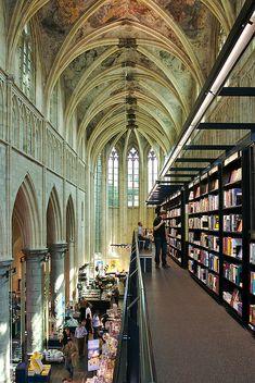 Selexyz Dominicanen Bookstore - former church converted into a bookstore - Maastricht, Netherlands
