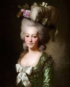 Alexander Roslin — Portrait of the Marquise de Becdelièvre, 1780 Marquise, Marie Antoinette, Rococo Fashion, 18th Century Costume, 18th Century Fashion, 17th Century, Rococo Style, Painted Ladies, Woman Painting