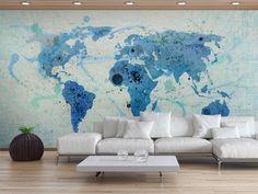 Carta da parati 450x270 cm Cruising and sailing -  The World map 60066