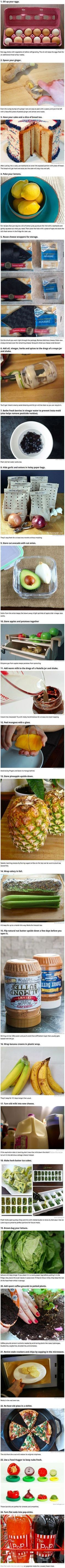 Useful kitchen life hacks and tips that food geeks would love.