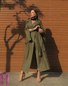 Fashion Project, Tehran, Mode Hijab, Abayas, Persian, Military Jacket, Women's Fashion, Street Style, Coat