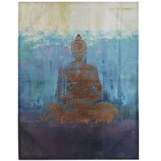 Cool off on even the hottest of patios and find inner peace while looking into this beautiful Buddha painting. The painting's UV protection will keep its calming colors safe for a long time to come.