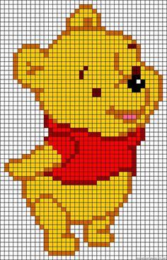 Winnie Pooh - Vorlage für #Bügelperlen