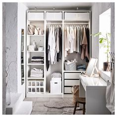 Discover the IKEA PAX wardrobe series. Design your own PAX wardrobe inside and out, from door styles, to shelves, to interior organizers and more. Ikea Pax Wardrobe, Diy Wardrobe, Walk In Wardrobe, Wardrobe Ideas, Curtain Wardrobe, Ikea Pax Closet, Wardrobe Drawers, Closet Bedroom, Bedroom Storage