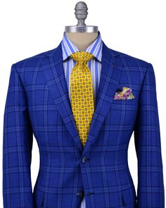 Brioni | Blue Plaid Sportcoat