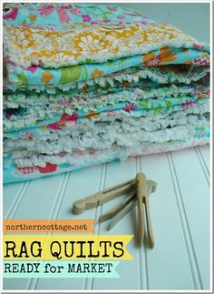Gorgeous Soft Cozy {RAG Quilts} in the shop - SALE - ready to ship to you or someone you ♥ - {Northern Cottage}