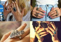 Denize Venâncio: Inspiração do dia: Anéis grandes!