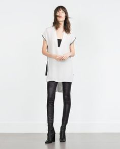 Image 1 of TWO-TONE TUNIC from Zara