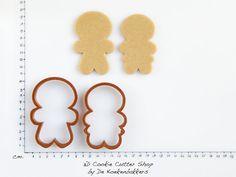 Gingerbread Boy & Girl Cookie Cutter Set by 3DCookieCutterShop