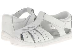 Jumping Jacks Kids Heart Line (Toddler) White Leather - Zappos.com Free Shipping BOTH Ways