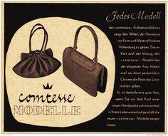 Original-Werbung/ Anzeige 1956 - COMTESSE HANDTASCHEN - ca. 140 x 110 mm