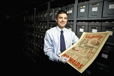 Office space: McDonald's archivist  Michael Bullington gives a tour of his office in former Hamburger University