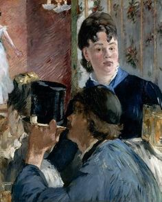The waitress of bocks, by Édouard Manet