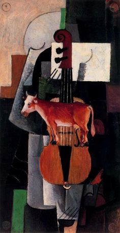 Cow and Violin by Malevich