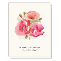Poppy Sympathy Card. Have to try this!  Love the look!