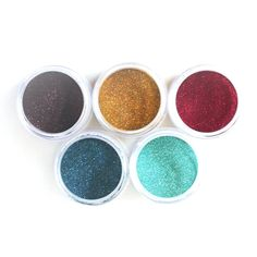 Glitter Palette - Earth contains 5 new exclusive glitter colors Copper Bronze Moonbeam Rich Red Ice Teal Vintage Teal Jar Elizabeth Craft Designs, Card Making Supplies, Design Crafts, Craft Projects, Palette, Teal, Bronze, Glitter, Silk