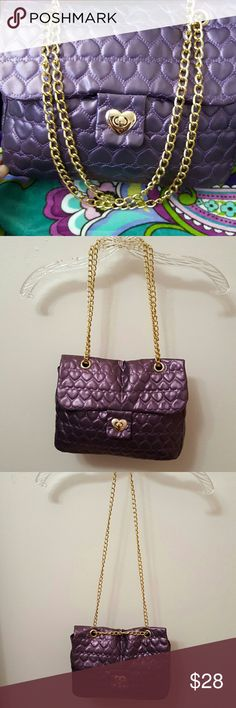 SHOULDER BAG Just a very cute bag.  Can be worn with double straps or one strap.  Dark purple.  Has alot of room inside! Bags Shoulder Bags