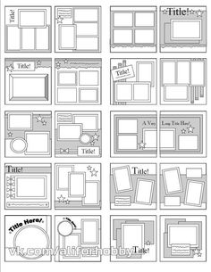 copic color combinations Scrapbook Page Sketches by Katie Butler Scrapbook Layout Sketches, Scrapbook Templates, Scrapbook Designs, Card Sketches, Photo Album Scrapbooking, Scrapbook Albums, Simple Scrapbooking Layouts, Simple Scrapbook Ideas, Scrapbook Ideas For Beginners