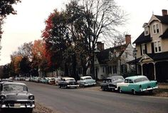 #1:  Cars Were Colorful!  Most cars these days look fairly bland, but in the 50's, our cars were big, bright, and fun!
