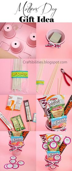 DIY Food Bouquet Tutorial  for a Perfect Mother's Day Gift! Simple Edible Gift for Mom by DIY Ready at http://diyready.com/diy-gifts-mothers-day-ideas/