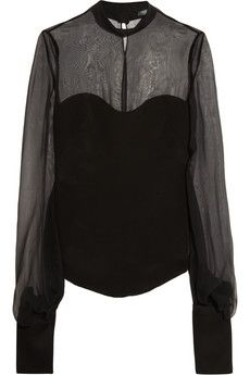 Silk and chiffon top by Alexander McQueen