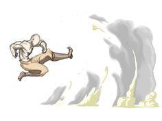 Airbending Long Kick by moptop4000.deviantart.com on @DeviantArt