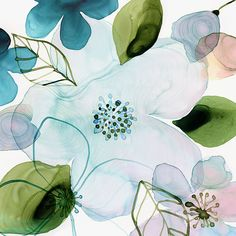 Margaret Berg Art: Water+Blossoms+II