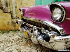 1957 Chevy Belair front grill and bumper in Trinidad Cuba - Car Pictures