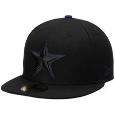 e718085ba2a489 Men s Dallas Cowboys New Era Black Pop Flip 59FIFTY Fitted Hat