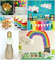 """A """"Pot of Gold"""" themed party would be perfect for a St. Pattie's Day birthday!"""