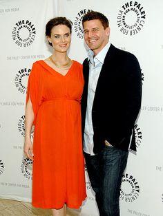 Emily Deschanel and David Boreanaz. By far my FAVORITE tv couple.