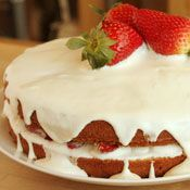 Strawberry Sour Cream Cake, Recipe from Cooking.com
