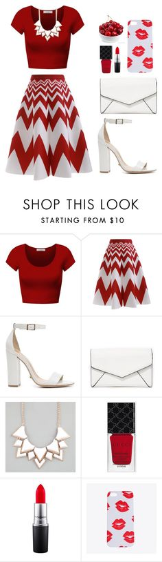 """untitled 8.1"" by goodvibes00 on Polyvore featuring DK, Schutz, LULUS, Full Tilt, Gucci and MAC Cosmetics"