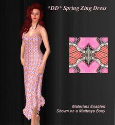 95c7a0fb417 Second Life Marketplace -  DD  Spring Zing Dress by Dulcinea Designs  mesh
