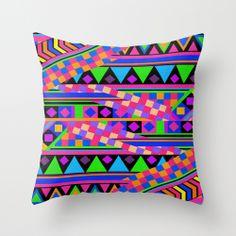 neon throw pillows