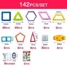 110pcs/set - 128pcs/set - 142pcs/set - 184pcs/set Mini Magnetic Building Blocks