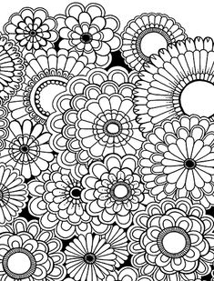Adult Coloring Pages Full Size - Bing images Adult Coloring Pages, Garden Coloring Pages, Secret Garden Coloring Book, Colouring Pages, Printable Coloring Pages, Coloring Sheets, Coloring Books, Coloring Pages For Grown Ups, Doodle Coloring