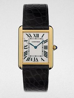 Cartier Tank Solo 18K Gold & Alligator Watch