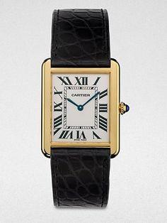 Cartier Tank Solo 18K Gold & Alligator Watch