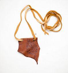 leather pendant  hand burnt design by heidiroland on Etsy, $36.00