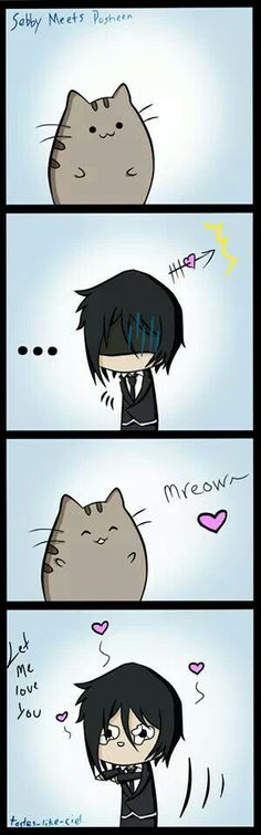 NO SEBASTIAN MINE! STAY AWAY FROM MY FAT CAT PUSHEEN!