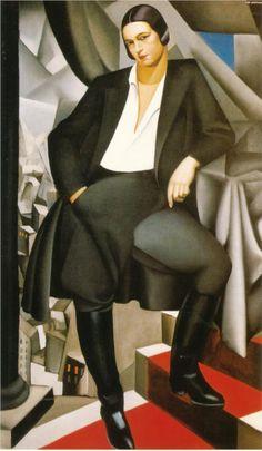 Portrait of the Duchess of La Salle, 1925 -Tamara de Lempicka - by style - Art Deco