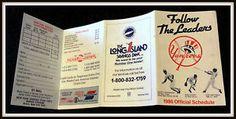 New York Yankees 1986 Long Island Bank Baseball Pocket Schedule Free Shipping | eBay