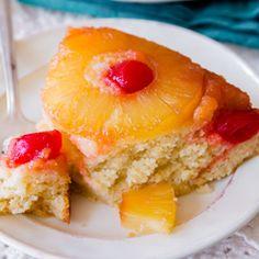 Pineapple Upside-Down Cake @keyingredient #delicious #pie #cake